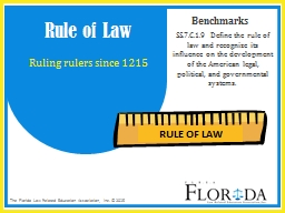 SS.7.C.1.9 Define the rule of law and recognize