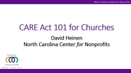 CARE Act 101 for Churches