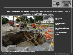 RISK ASSESSMENT OF SEWER CONDITION USING ARTIFICIAL INTELLIGENCE TOOLS