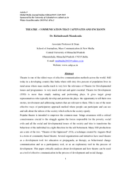 Article Global Media Journal Indian EditionISSN   Spon