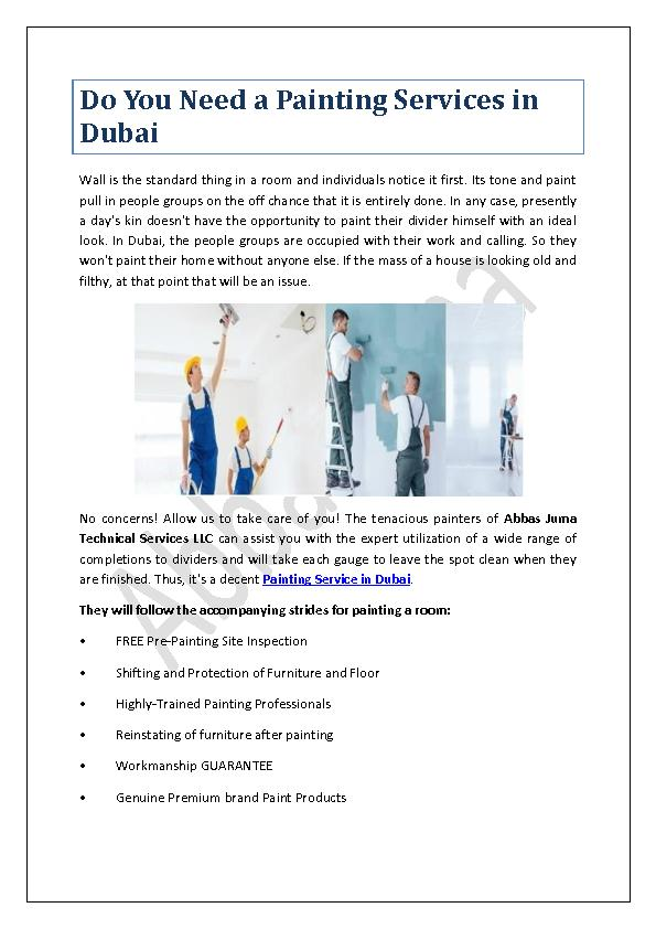 Do You Need a Painting Services in Dubai