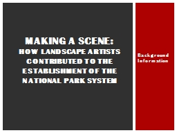 How Landscape Artists Contributed to the Establishment of the National Park System
