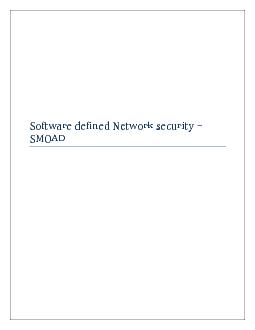 Software defined networking (SDN) Security