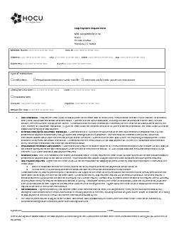 Stop Payment Request Form