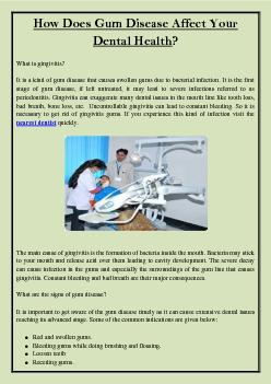 How Does Gum Disease Affect Your Dental Health?