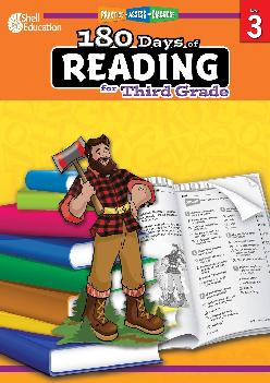180 Days of Reading Grade 3  Daily Reading Workbook for Classroom and Home Reading