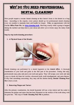 Why Do You Need Professional Dental Cleaning?