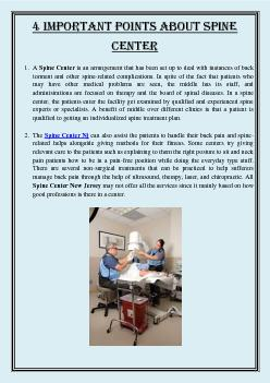 4 important points about Spine Center