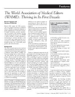 Science Editor  January  February 2005  Vol 28  No 1  13