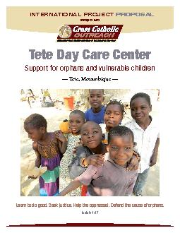 PROJECT 0452Tete Day Care CenterSupport for orphans and vulnerable chi