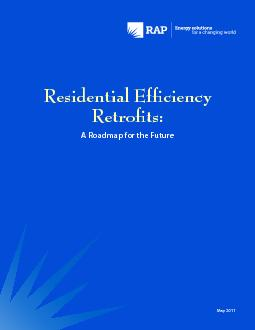 Residential Ef31ciency A Roadmap for the FutureMay 2011