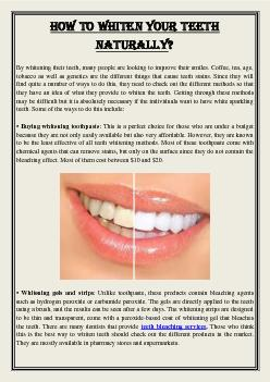 How to whiten your teeth naturally?