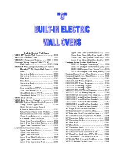 Builtin Electric Wall Ovens VEDO 27 Electric Wall Oven