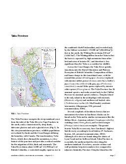 Southeast Alaska Conservation Assessment  Chapter 47
