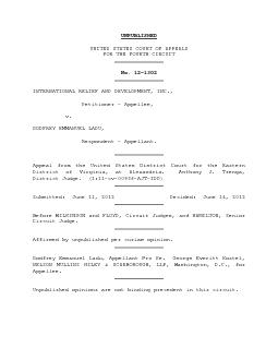 UNITED STATES COURT OF APPEALSFOR THE FOURTH CIRCUIT