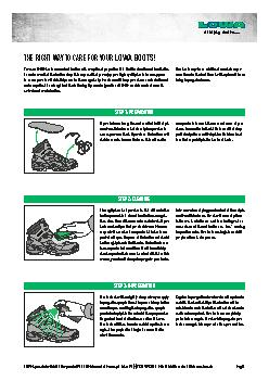 If your footwear has gotten wet or soiled let it dry in a wellventil