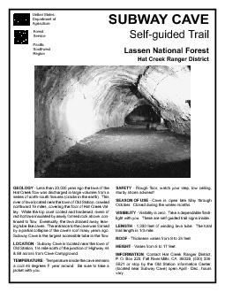 SUBWAY CAVESelfguided Trail  Less than 20000 yeas ago the lava of t