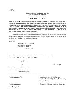 173286  UNITED STATES COURT OF APPEALS FOR THE SECOND CIRCUIT RULINGS