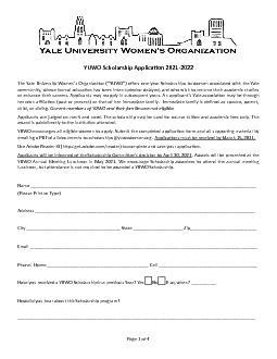YUWO Scholarship Applicax00740069on 2021