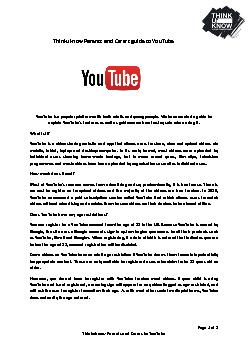 Parents and Carers to YouTube