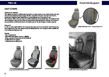 Without protecting seat cover  damaged original seat