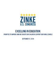 Excelling in Education Priorities to improve how we ed