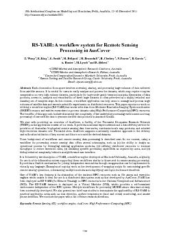 RSYABI A workflow system for Remote Sensing Processing in AusCover Z