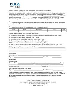 Complete disclosure form below and return to CULA