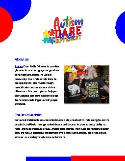 Gift Shop About Autism Awareness| Autism Dare To Be Different