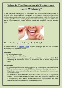 What Is The Procedure Of Professional Teeth Whitening?