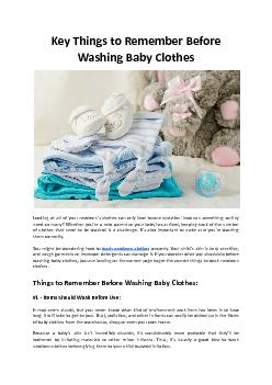 Key Things to Remember Before Washing Baby Clothes - Hello Laundry
