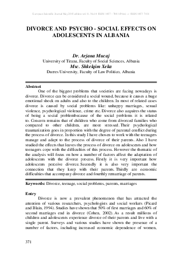 European Scientific Journal May 2015 edition vol11 No14  ISSN 1857  78
