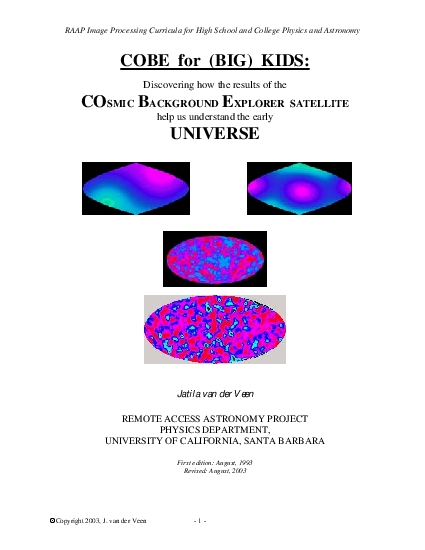 RAAP Image Processing Curricula for High School and College Physics an