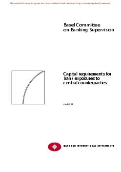 Basel Committee on Banking Supervisio Capital requirem
