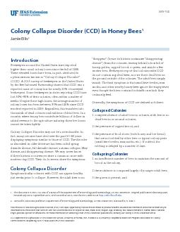 ENY Colony Collapse Disorder CCD in Honey Bees Jamie Ellis