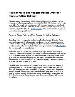 Popular Fruits and Veggies People Order for Home or Office Delivery