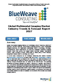 global multimodal imaging market was worth USD 2.5 billion in 2020 and is further projected to reach USD 3.4 billion by the year 2027