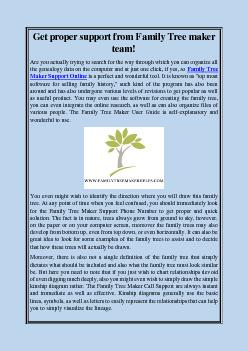 Get proper support from Family Tree maker team!