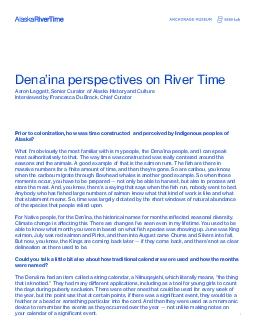 Aaron Leggett Dena146ina perspectives on River TimeAaron Leggett Senio