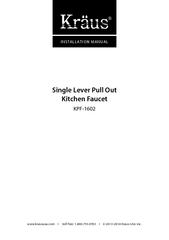 Single Lever Pull Out Kitchen Faucet INSTALLATION MANU