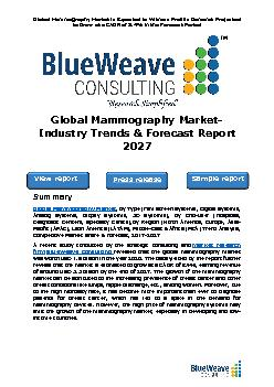 global mammography market was worth USD 1.9 billion in 2020. The market is projected to reach USD 3.3 billion by 2027