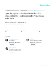 Psychological Science    The Authors  Reprints and per