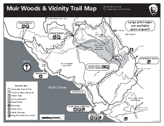 Muir Woods  Vicinity Trail MapNational Park ServiceUS Department of th
