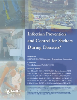 Infection Prevention and Control for Shelters During DisastersPrepared