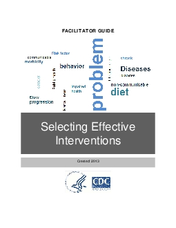 x0000x0000SELECTING EFFECTIVE INTERVENTIONSx0000x0000FACILITATOR GUIDE