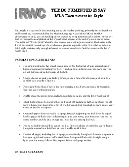 ORMATTING GUIDELINES  Unless your instructor has specific requirements