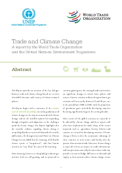 Trade and Climate ChangeA report by the World Trade Organization