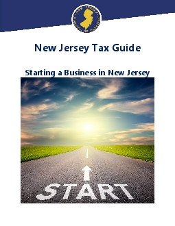 New Jersey Tax GuideStarting a Business in New Jersey