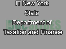 IT New York State Department of Taxation and Finance