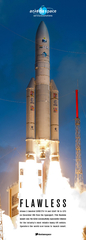 Ariane 5 boosted DIRECTV-14 and GSAT-16 to GTO on December 6th from the Spaceport. This flawless launch was the 63rd consecutively successful mission for the industry's most reliable heavy-lift vehicle. Operators the world over know to launch smart.F